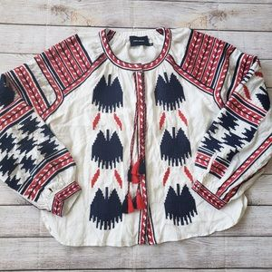 Isabel Marant Embroidered Peasant Top